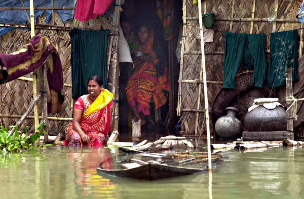 Bholar Basti, a water-logged slum in Dhaka city, accommodates more than 30,000 people, most of them victims of river erosion, floods and other natural disasters.