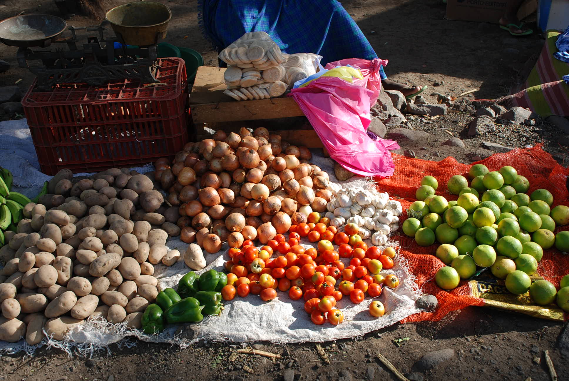 Vegetables in street market in Cape Verde
