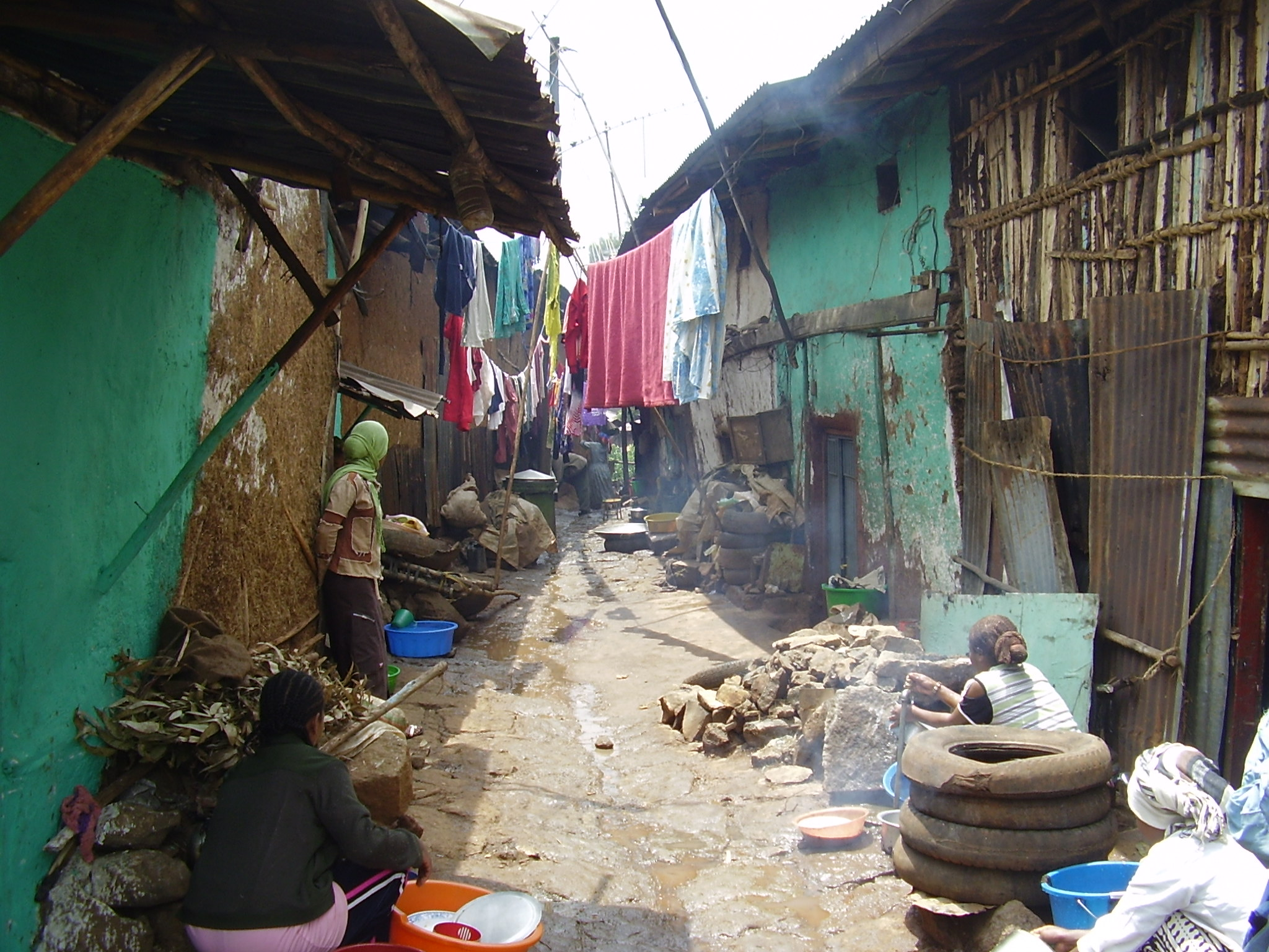 Many residents of Addis Ababa live in slums, struggling everyday to get food.