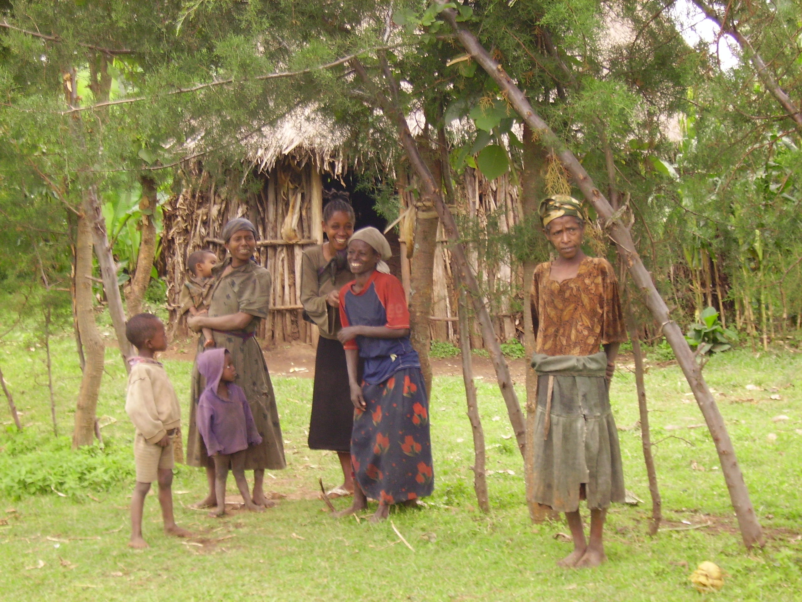 A poor Ethiopian family at Galicha Sake, Wolayita District of the SNNPR Region. Malnutrition is rampant in the area.