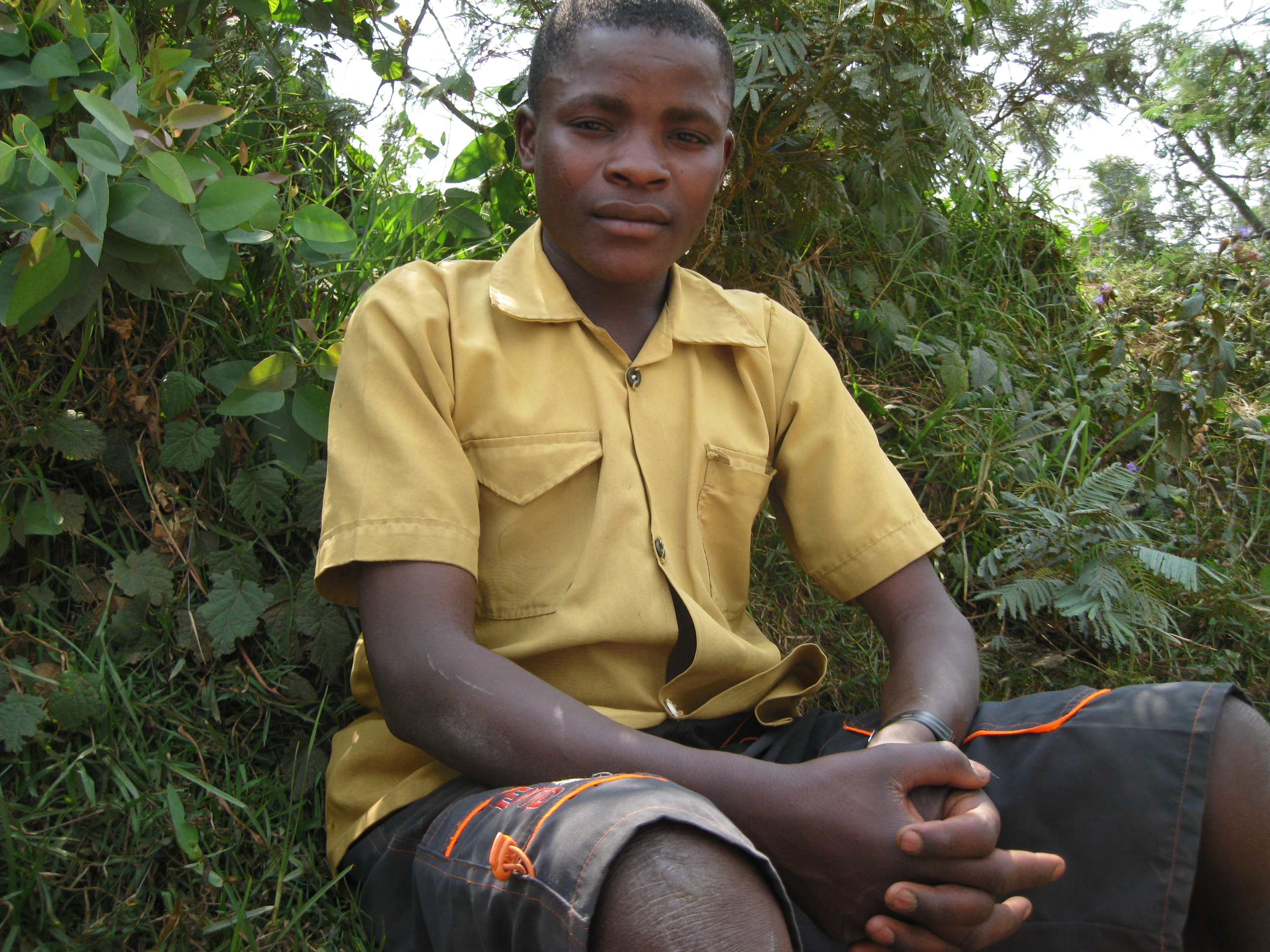 Jean-Lambert Rukeratabaro, 16, a fourth year primary school pupil in the area of Byumba located north of the capital, Kigali.