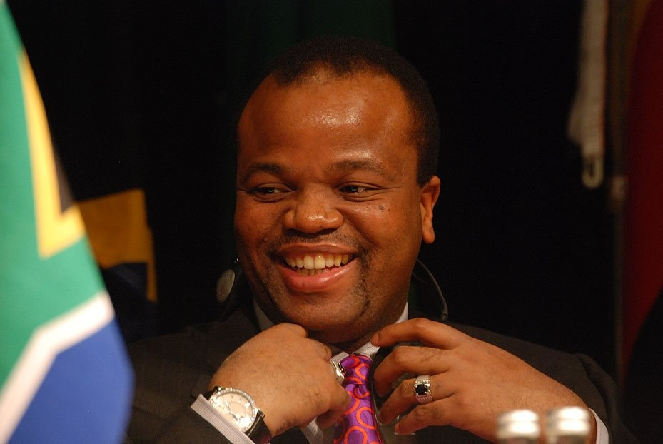 King Mswati III.