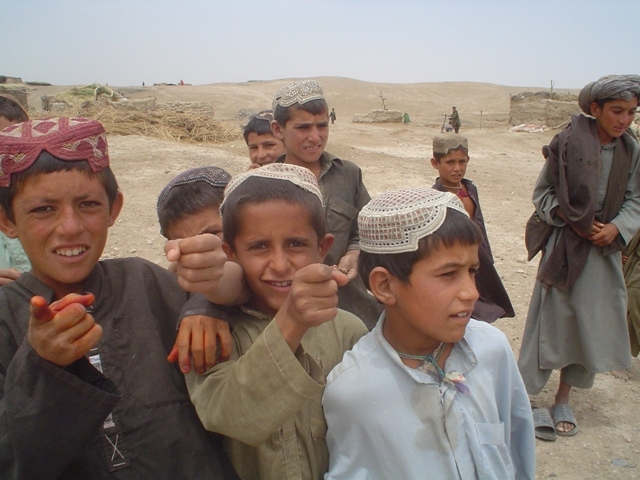 Children who do not go to school due to insecurity in southern Helmand Province.