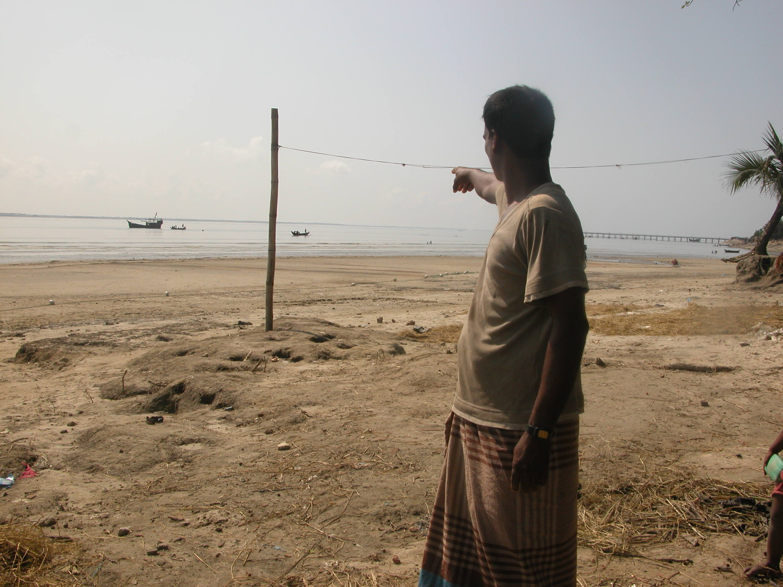 Ten years ago Kutubdia stretched out to where the boats are, says British Jawaldas, a fisherman