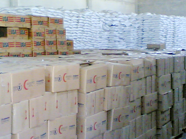Throughout October food aid such as rice, oil and lentils, a ration of tea, sugar, tomato paste and pasta, will be made available to some 194,000 Iraqis.