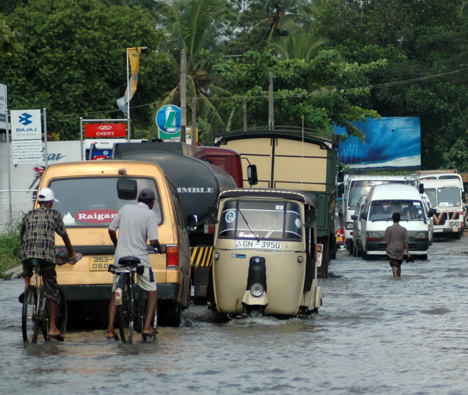 Flash floods can wreak havoc in urban and rural areas of Sri Lanka during heavy rains.