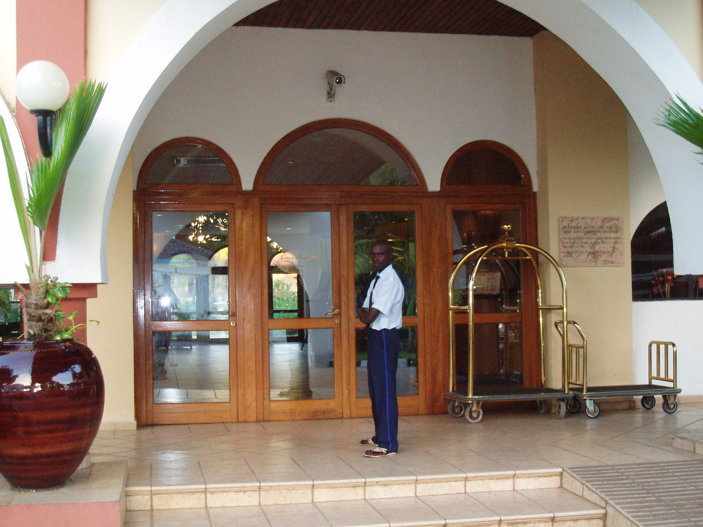 Security guards at the Ocean Bay hotel in Bakau, Gambia, have signed up to a code of conduct prohibiting child sex workers to work in the hotel.