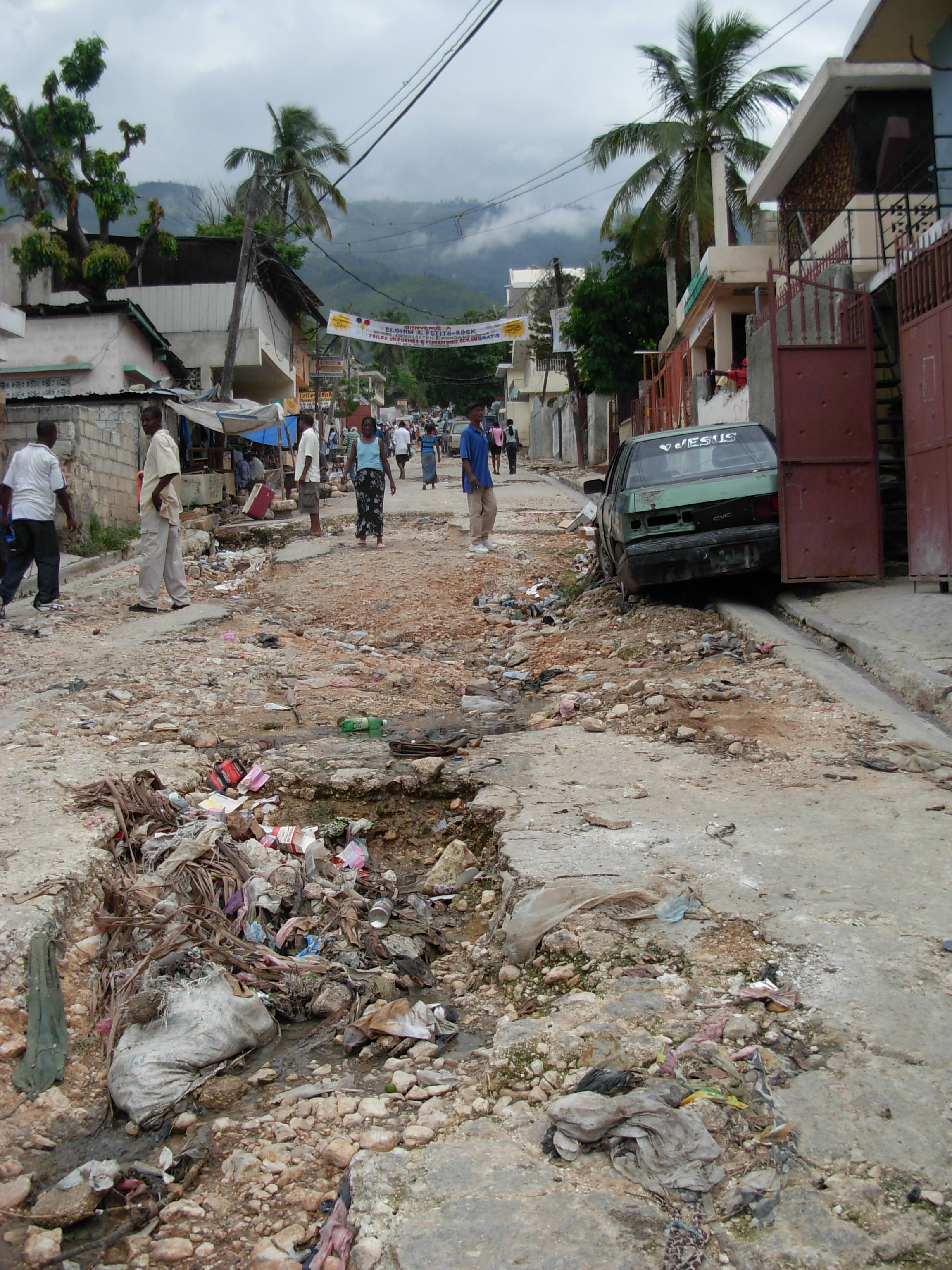 The streets of Port-au-Prince.