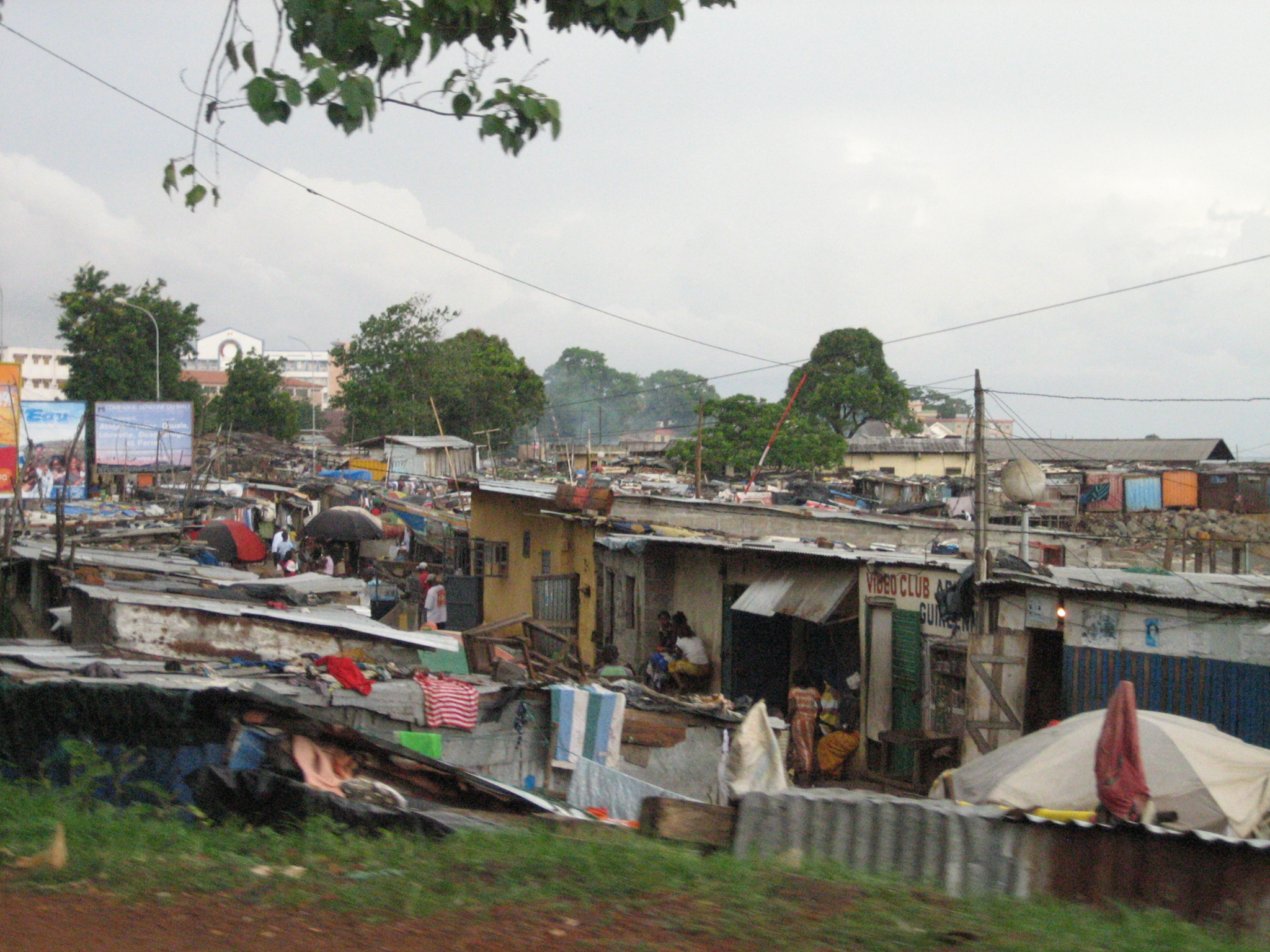 Slums on the seaside, Conakry.