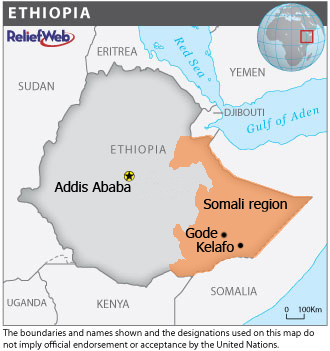 A map of ethiopia highlighting gode and kelafo towns in the somali a map of ethiopia highlighting gode and kelafo towns in the somali region gumiabroncs Images