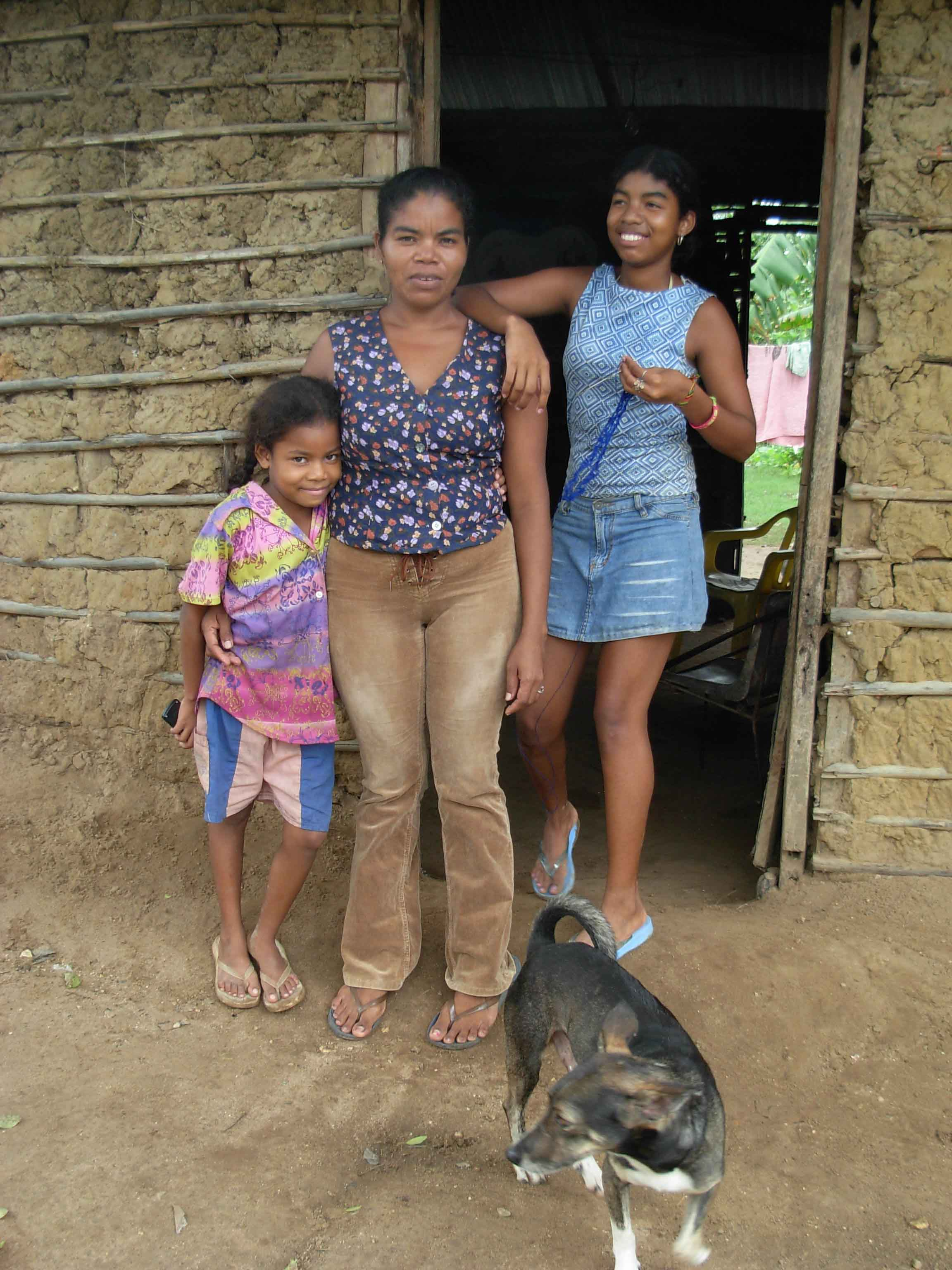 Alberis Peralta and her children were displaced by Colombia's armed conflict and now live in Arjona, an imporverished community outside Cartagena on Colombia's northern coast