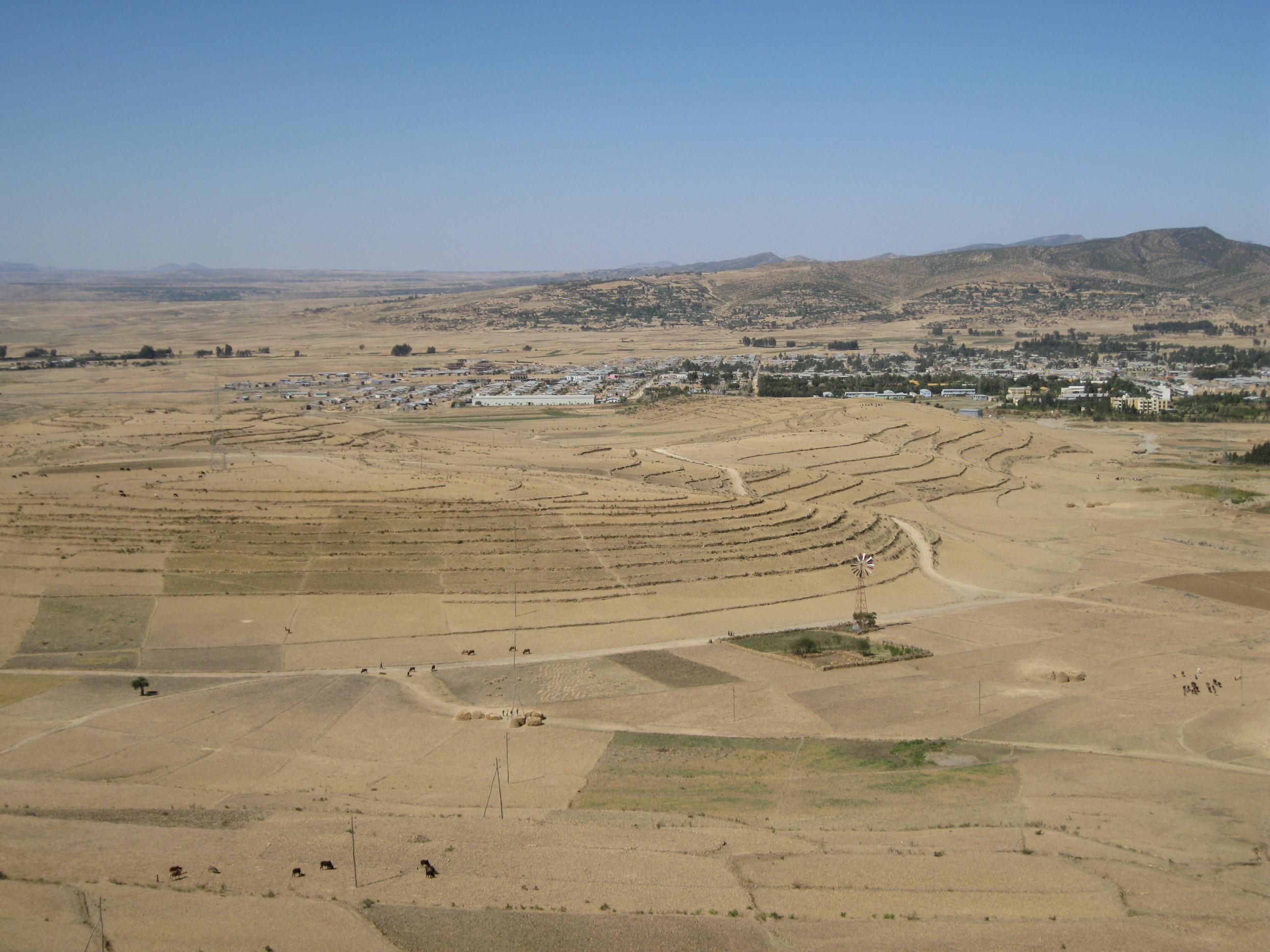 A drought-affected terrain in Tigray, northeastern Ethiopia