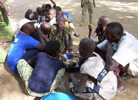 For many in Cote d'Ivoire, like these children in the Bromakoté neighbourhood eating more than one meal a day has become a luxury. In a November 2008 report the government said poverty rose sharply between 2002 (year of the rebellion that tore the countr