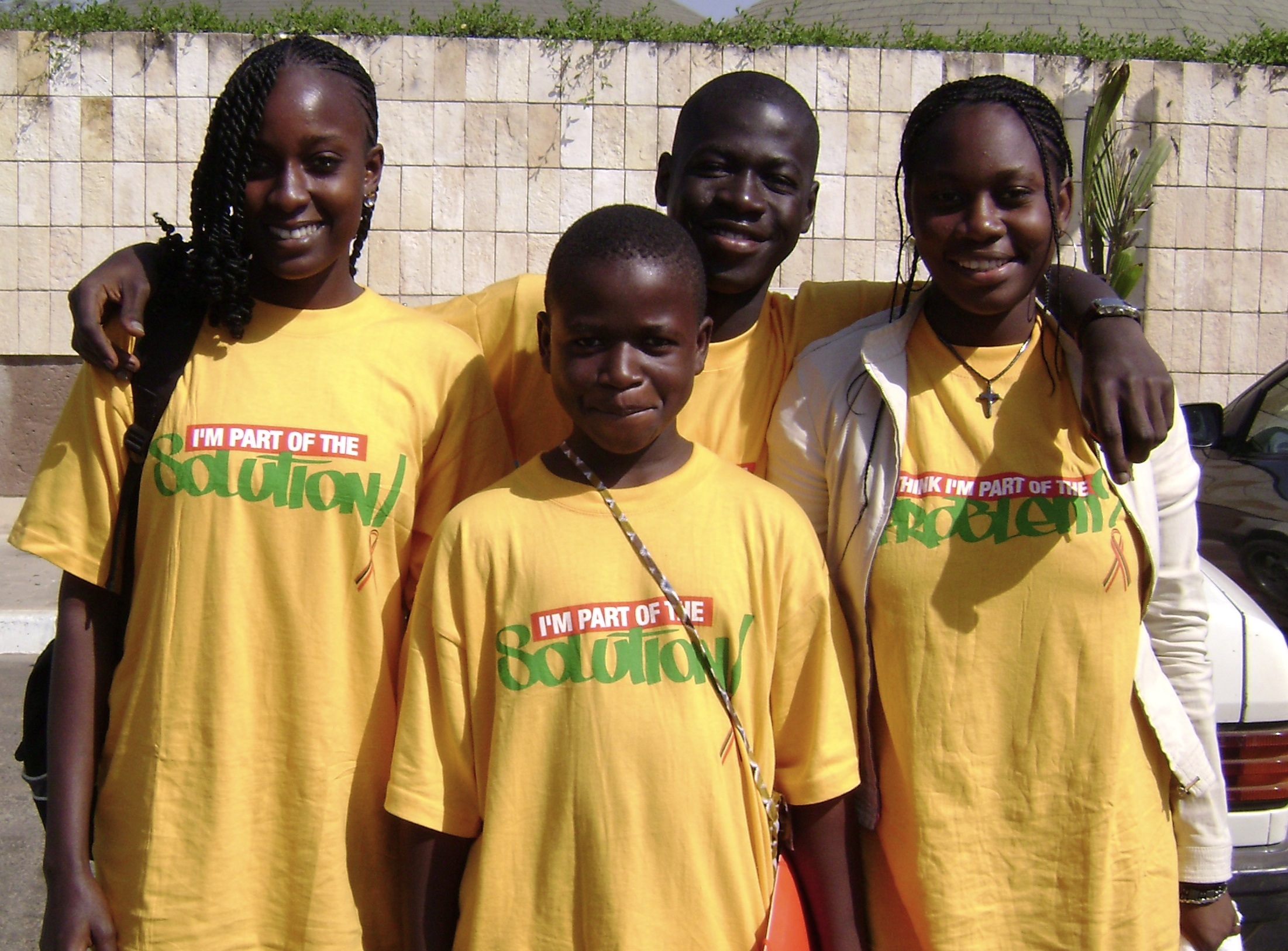 Youths attending an international conference on HIV/AIDS and sexually transmitted infections, Dakar, Senegal, December 2008