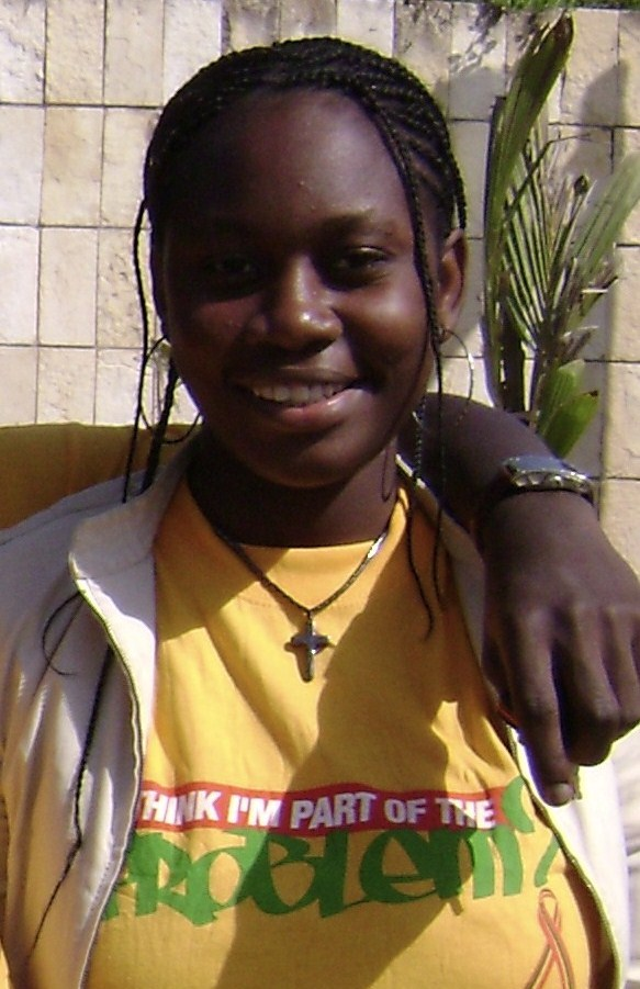 A 15-year-old AIDS activist from Togo who attended a December 2008 international conference on HIV/AIDS and sexually transmitted infections in the Senegalese capital Dakar