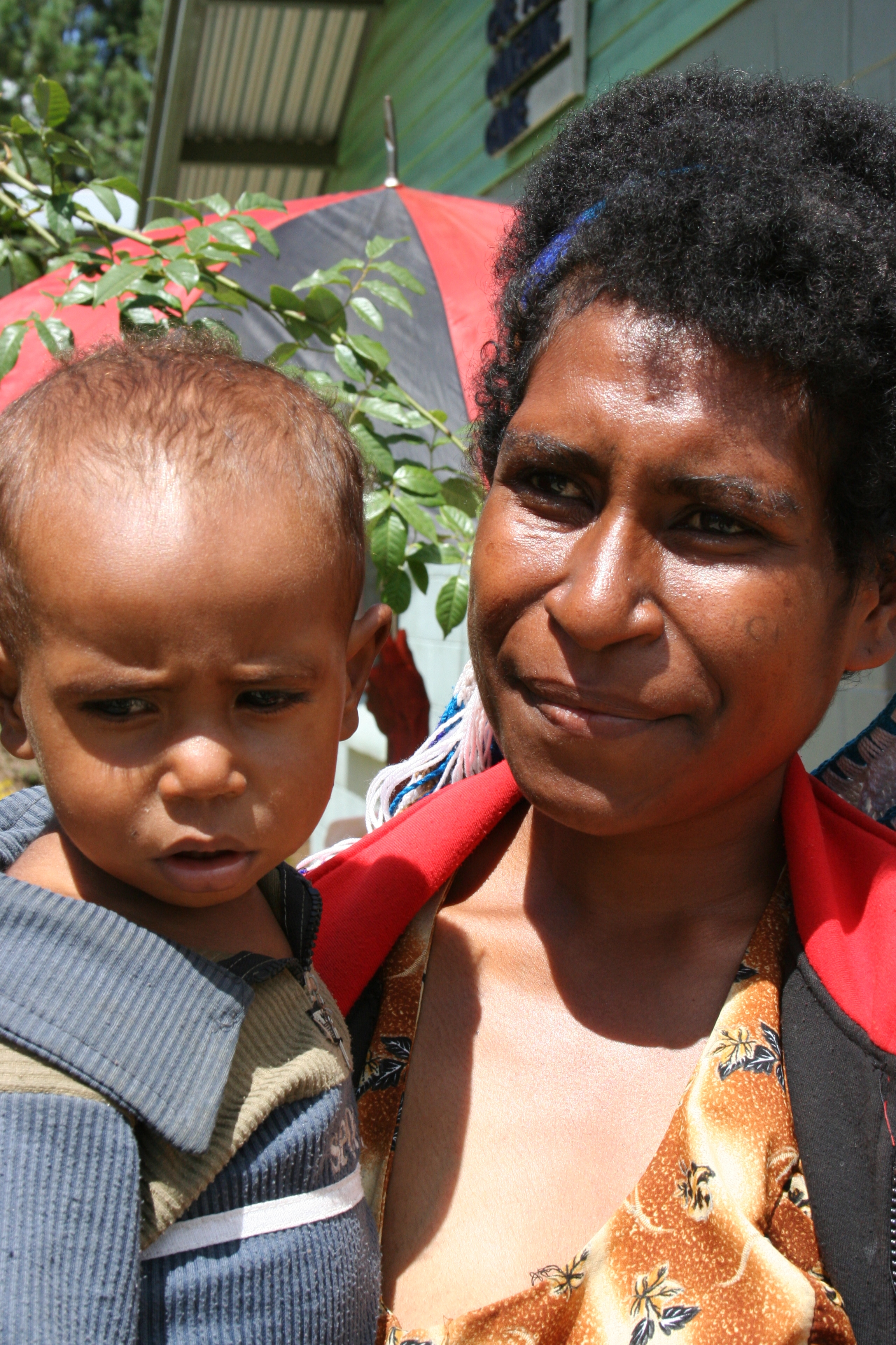 Mother and child <font color=red>(mum HIV+ but no permission granted to reveal status - SO DO NOT)</font>