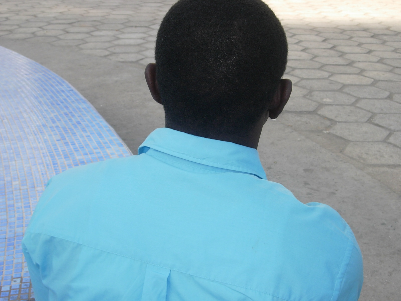 'Lamine', whose six-year-old daughter was raped while in the toilets at school in the Senegalese capital Dakar
