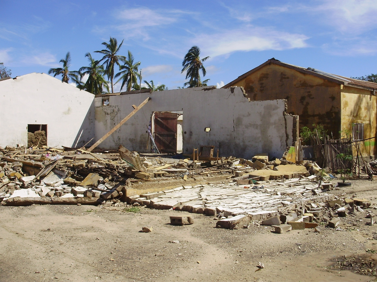 Buildings have been leveled in Morondava