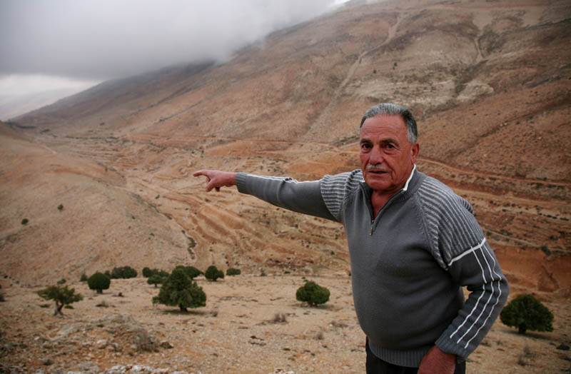 Milhem Tawk's Christian family lives up the mountain and claims water rights to one of the springs. But their Muslim neighbours in the valley below say their supply has been cut