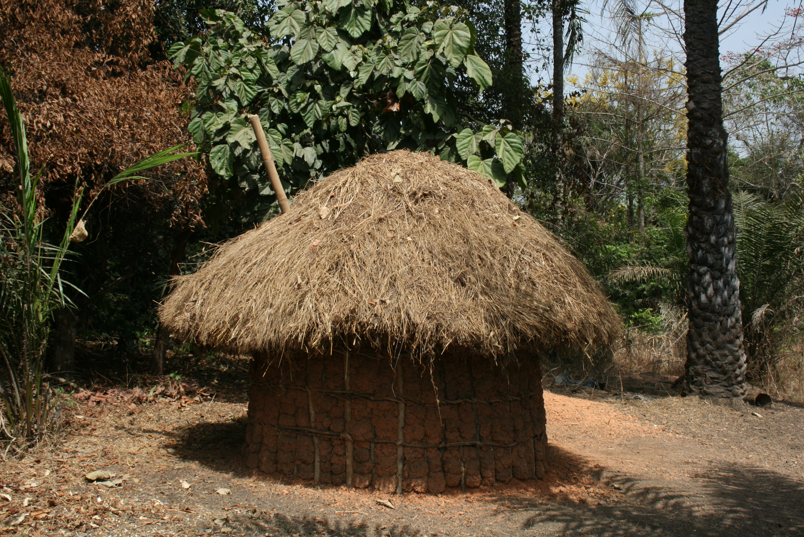 Toilet constructed by villagers in Kamayintin village in Bombali district, northern Sierra Leone