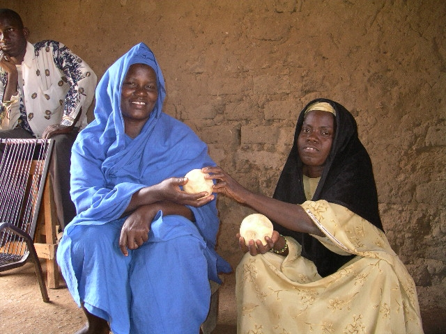 Women in Mali with their home-made soap