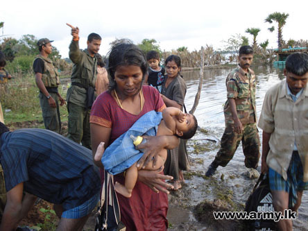 Thousands of Tamil civilians have fled southward to government-controlled areas
