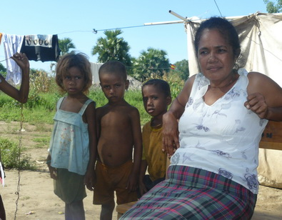 Antonia da Costa Freitas, 48, has lived at the Metinaro displaced persons camp outside Dili since 2006. The camp is the last of some 50 IDP camps in the area to remain open