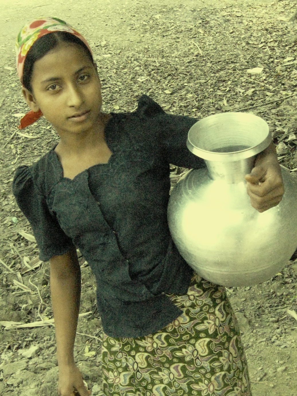 A Rohingya girl in Myanmar's northern Rakhine State