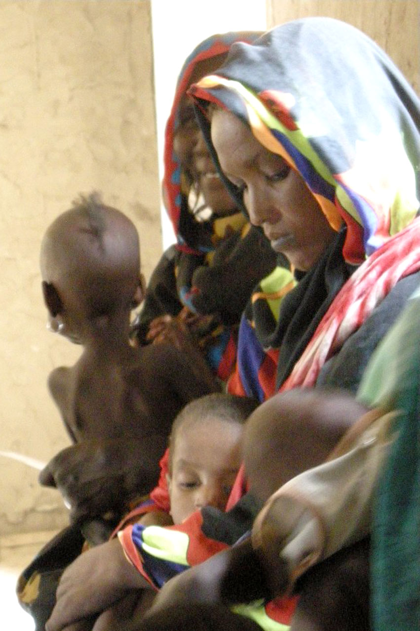Mothers in Kanem, western Chad, with their children who suffer varying degrees of malnutrition. Aid officials are working to link emergency therapeutic care to longer-term efforts that will help the region prevent high malnutrition levels in future. March