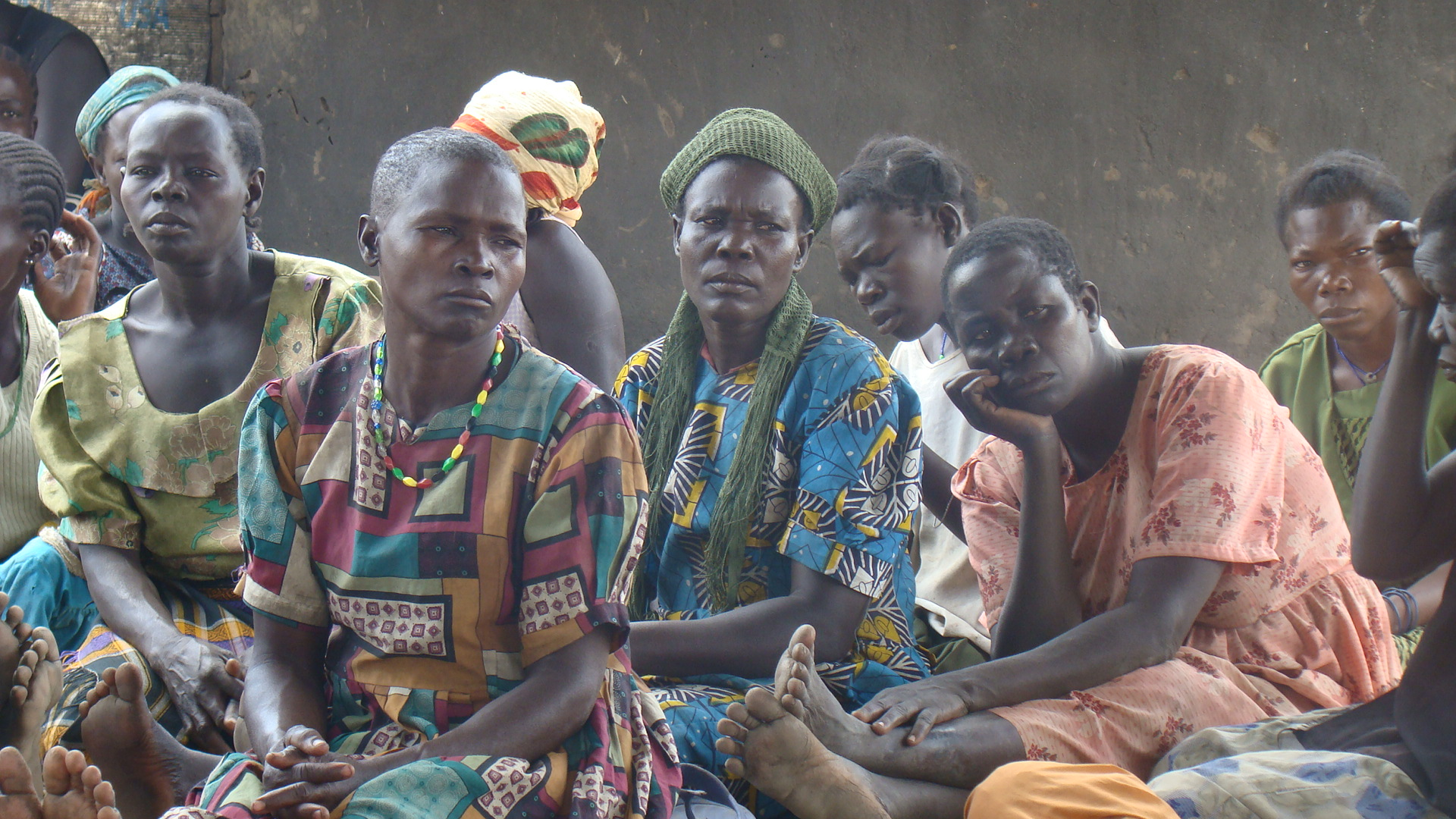 Displaced women as a peace meeting in Kitgum, northern Uganda