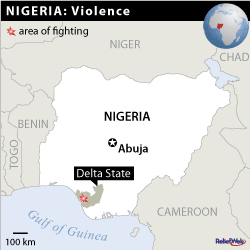 Delta State Nigeria Location Map