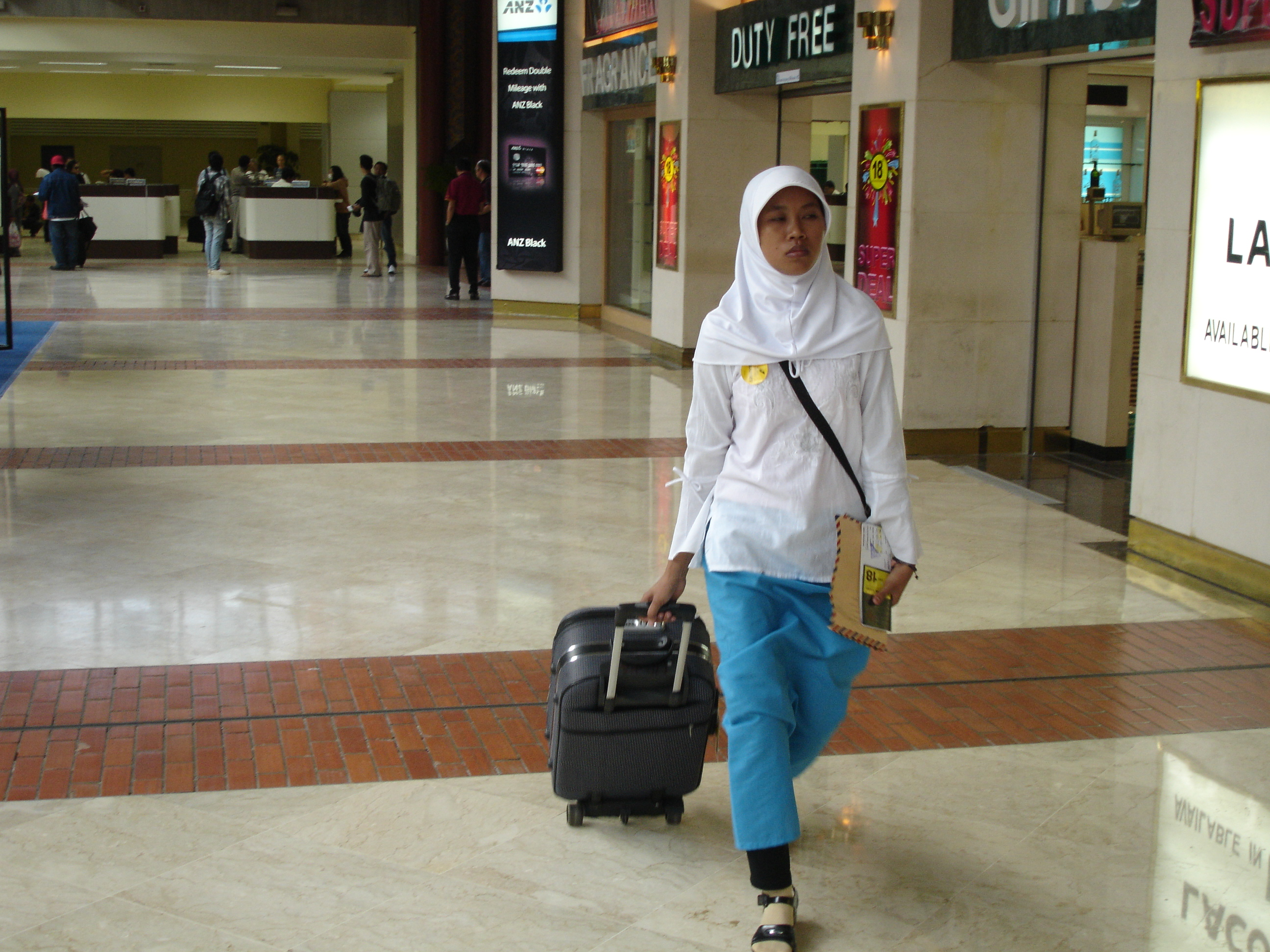 Thousands of women travel abroad each year to work as domestic helpers. About 80 percent of all Indonesian migrant workers are women, mostly domestic workers. Some 60 percent are in the Middle East, including Saudi Arabia, Kuwait, UAE, Jordan and Qatar, w