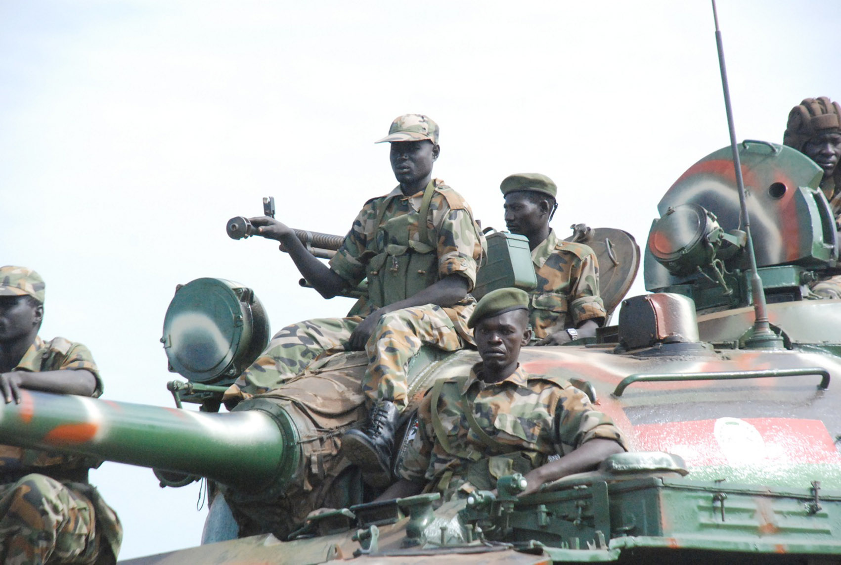 Southern Sudanese soldiers from the Sudan People's Liberation Army (SPLA) parade through Juba in May 2009 for celebrations to mark the 26th anniversary of the start of Sudan's civil war