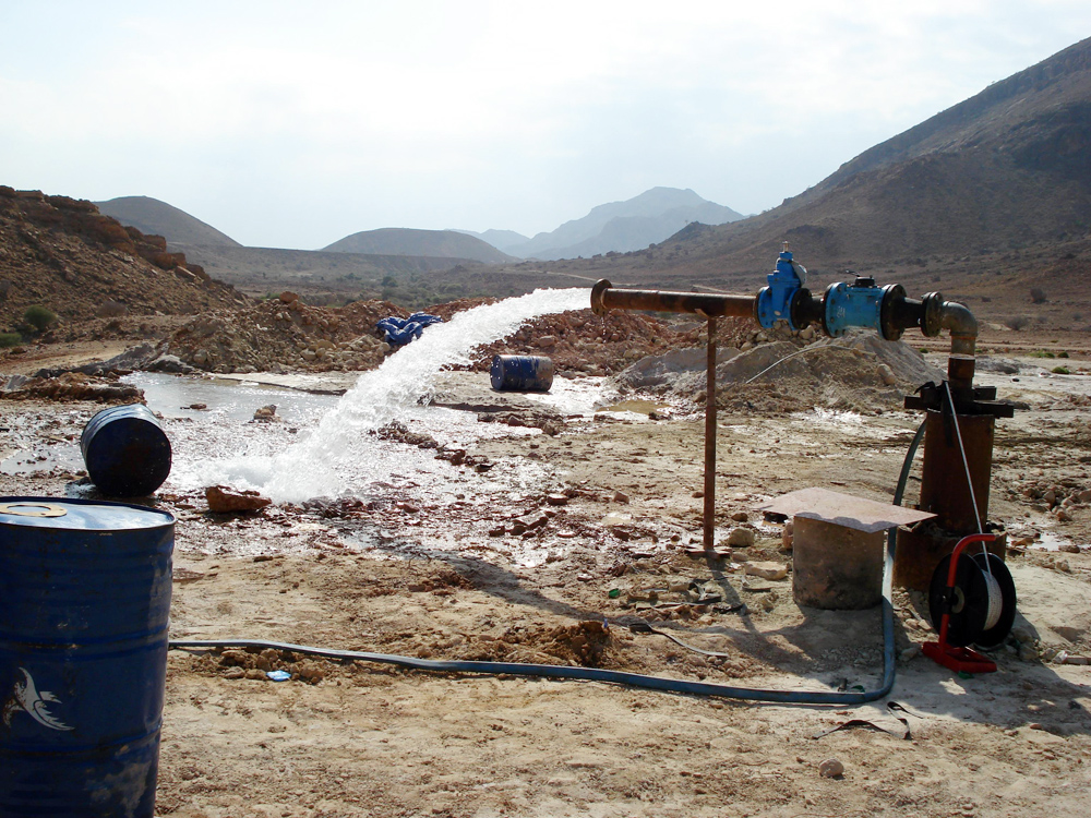 Water company Local Corporation for Water Supply and Sanitation (LCWSS) discovered a huge underground drinking water resource in Al-Ghaliah on the outskirts of Mukalla in Hadhramaut Governorate, southern Yemen