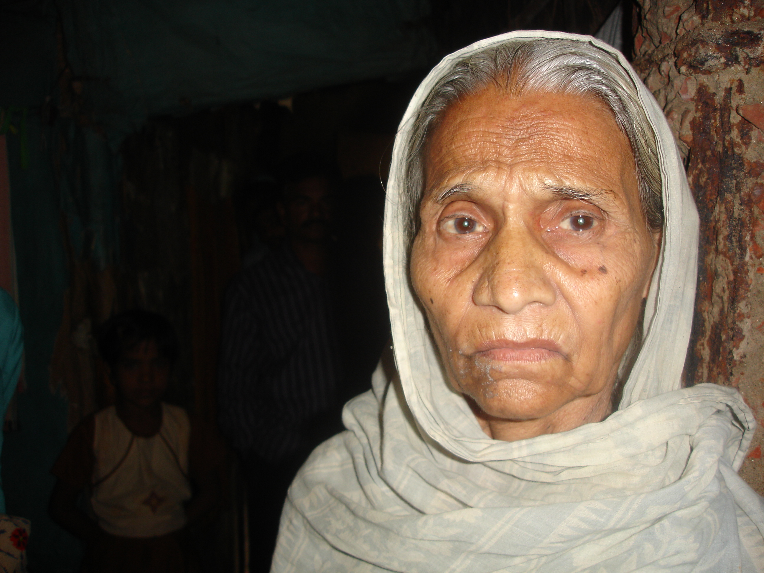 85-year-old Hasina, a Bihari in Dhaka. Her family emigrated from Calcutta to then East Pakistan after partition