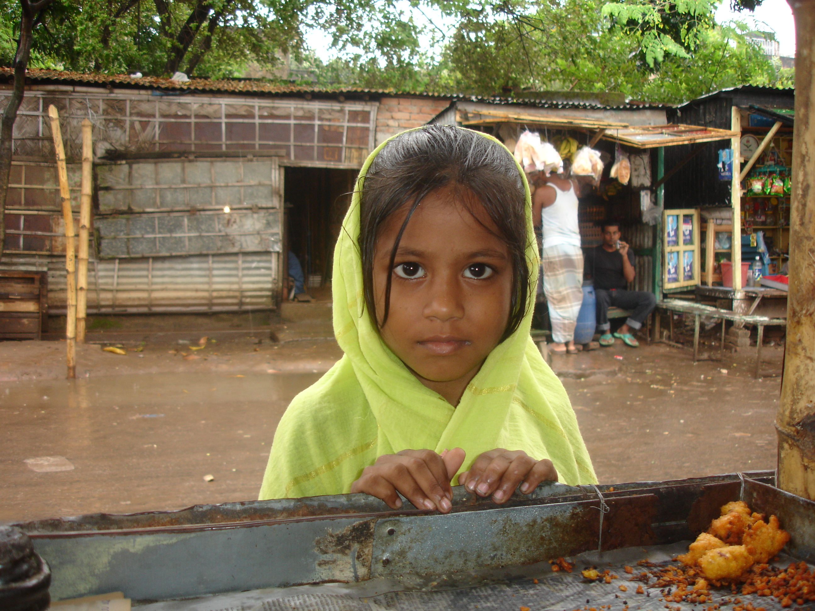 A young Bihari girl in Mirpur District, Dhaka. There are more than 200,000 Biharis in Bangladesh today