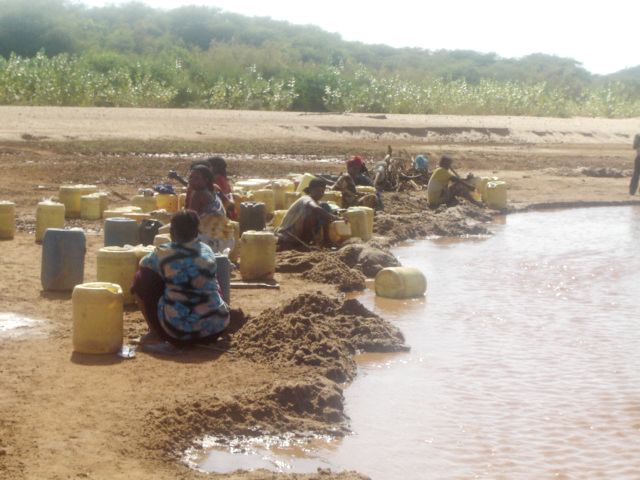 A drought reserve borehole in northeastern Kenya