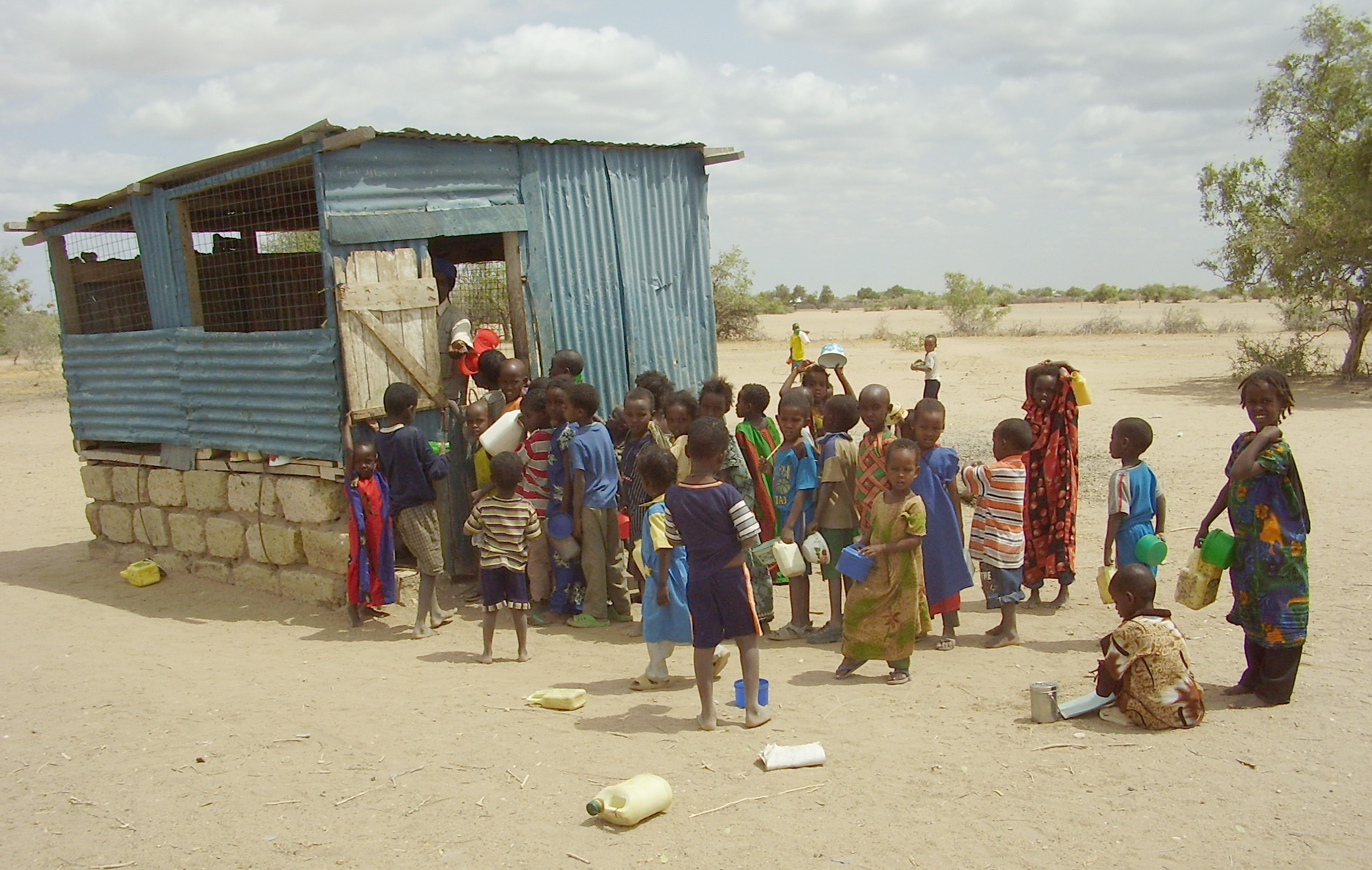 School children feeding programme in Isiolo, northern Kenya