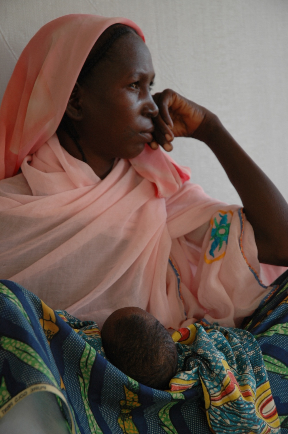 Nafissa Haboubacar with her two-month-old baby at an intensive care nutrition centre, Zinder, Niger