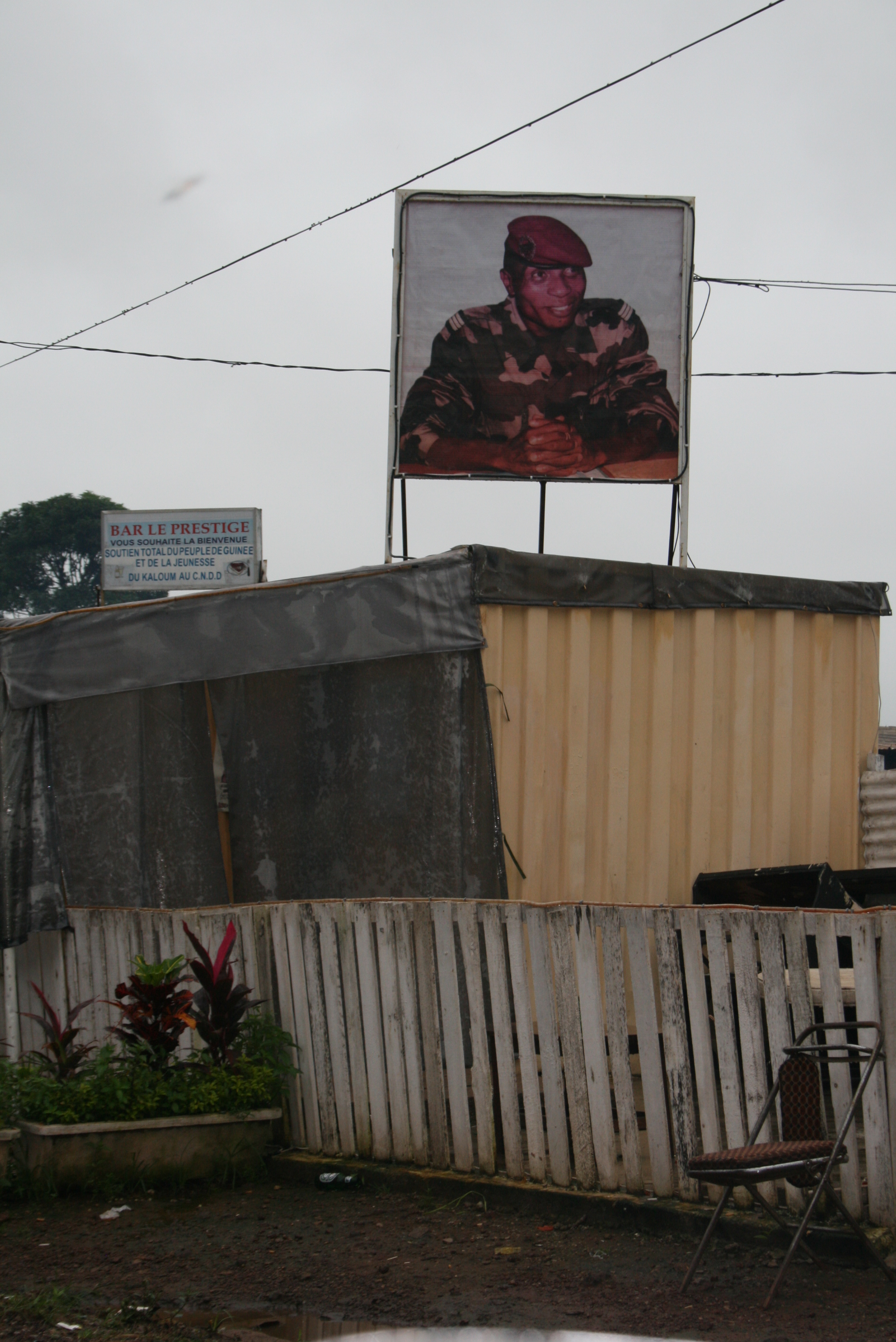 Billboard of Guinea's junta leader Moussa Dadis Camara in the capital Conakry. August 2009
