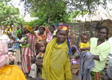 Displaced people in Birao, a town in northeastern Central African Republic. The region has been hit by clashes between the Goula and Kara communities