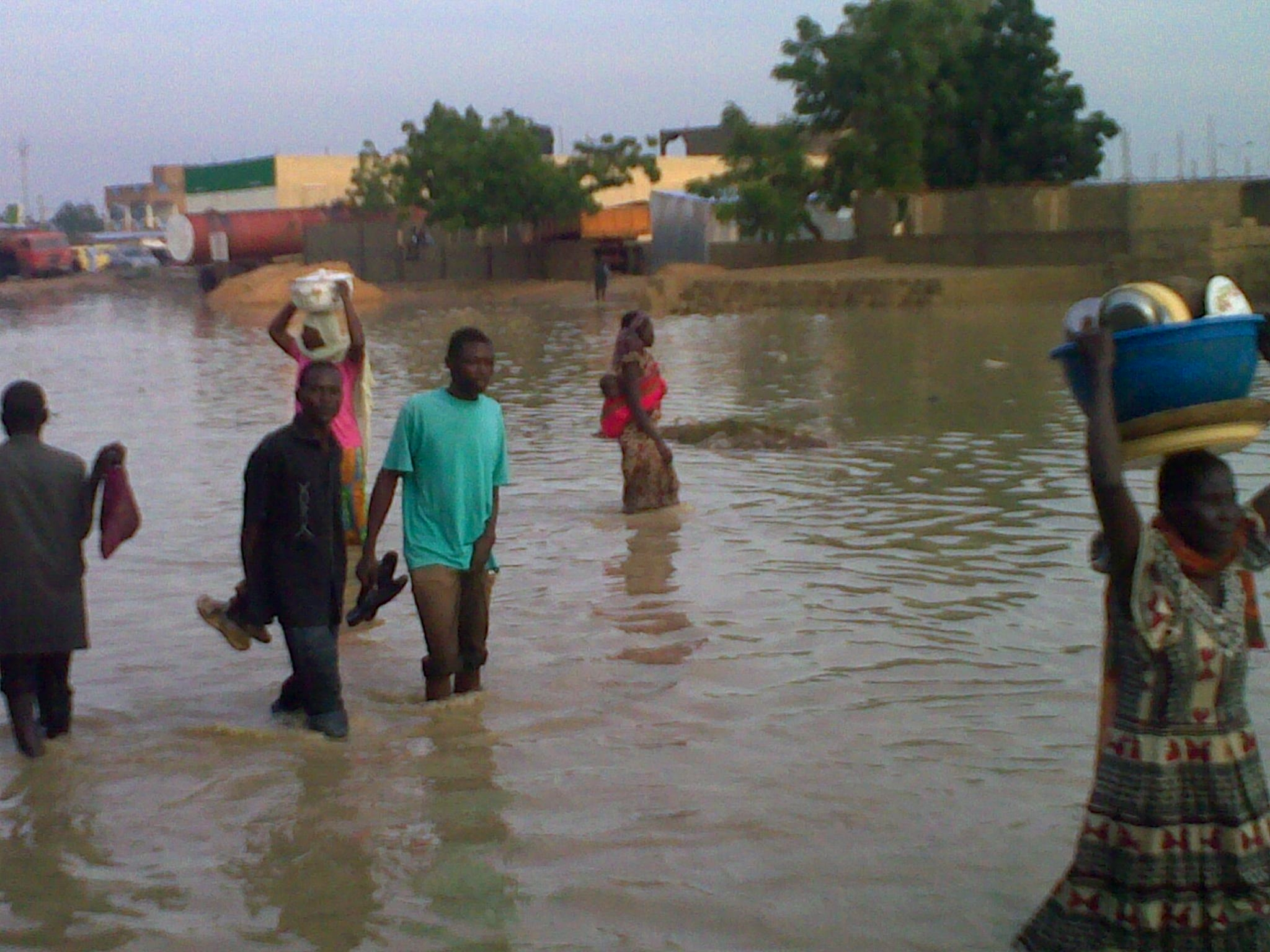 Flooding in the Chad capital N'djamena. August 2009