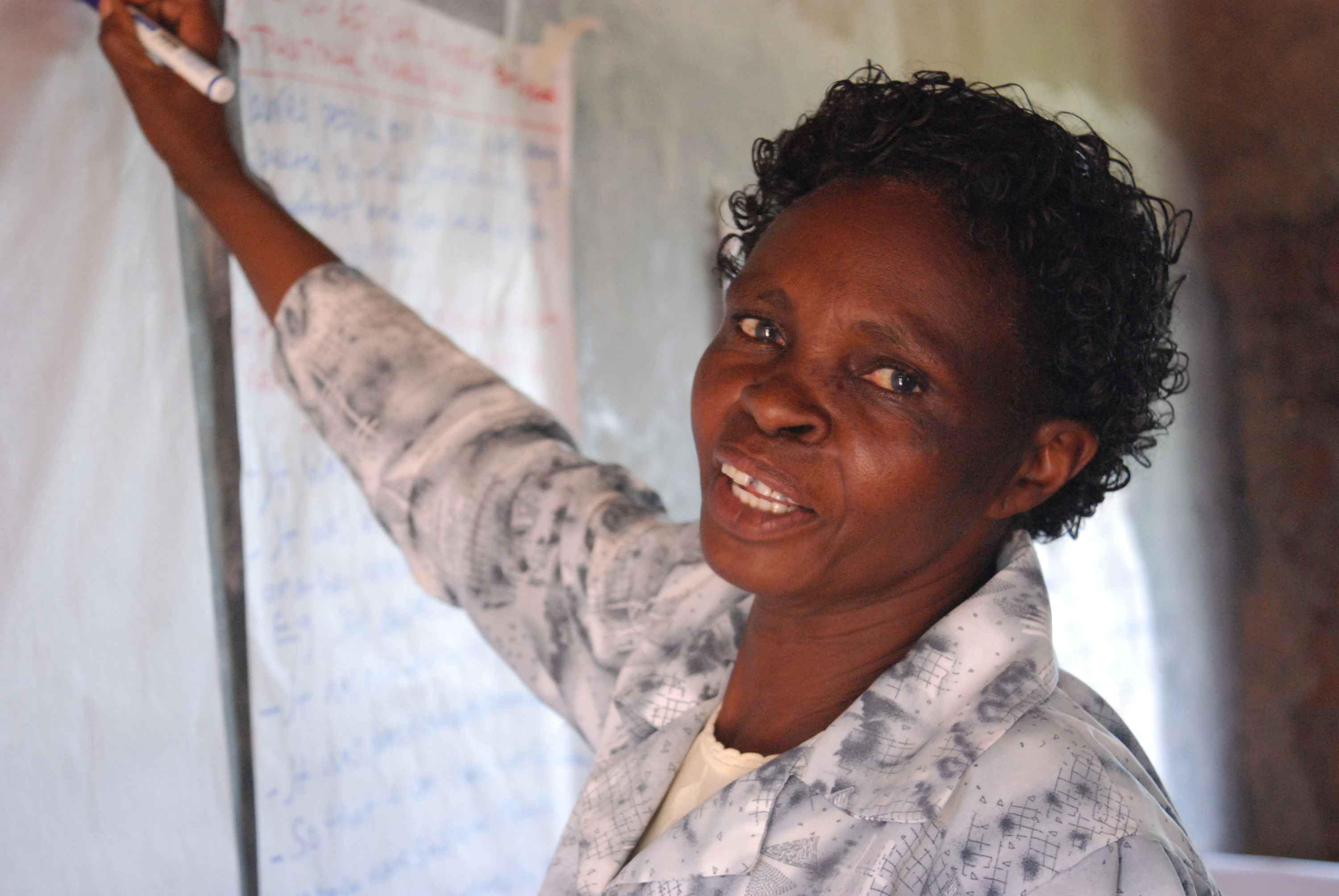 Faith Mukwanyaga, a facilitator at an alternative rite of passage in Meru, eastern Kenya