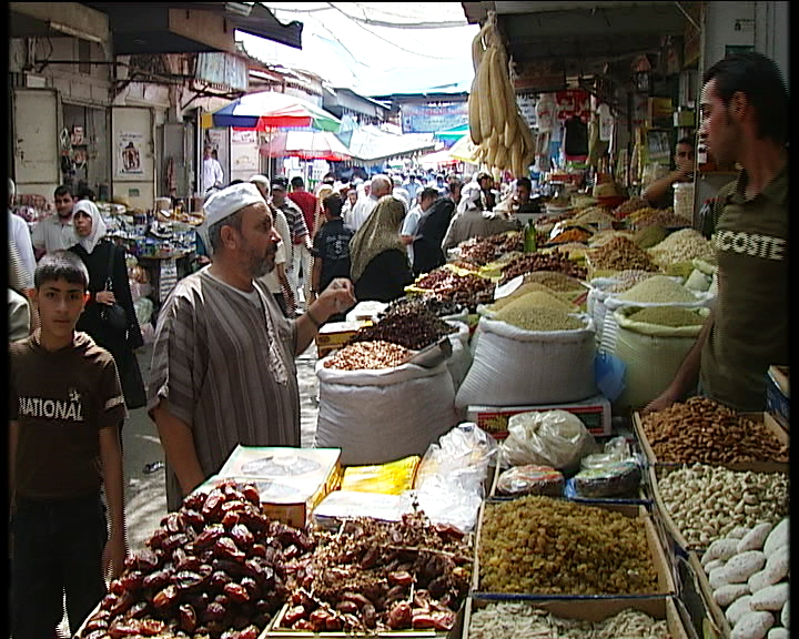 Palestine Square in Gaza City during Ramadan. Food insecurity is affecting Ramadan meals in the Gaza Strip as residents struggle to find and afford traditional Ramadan foods