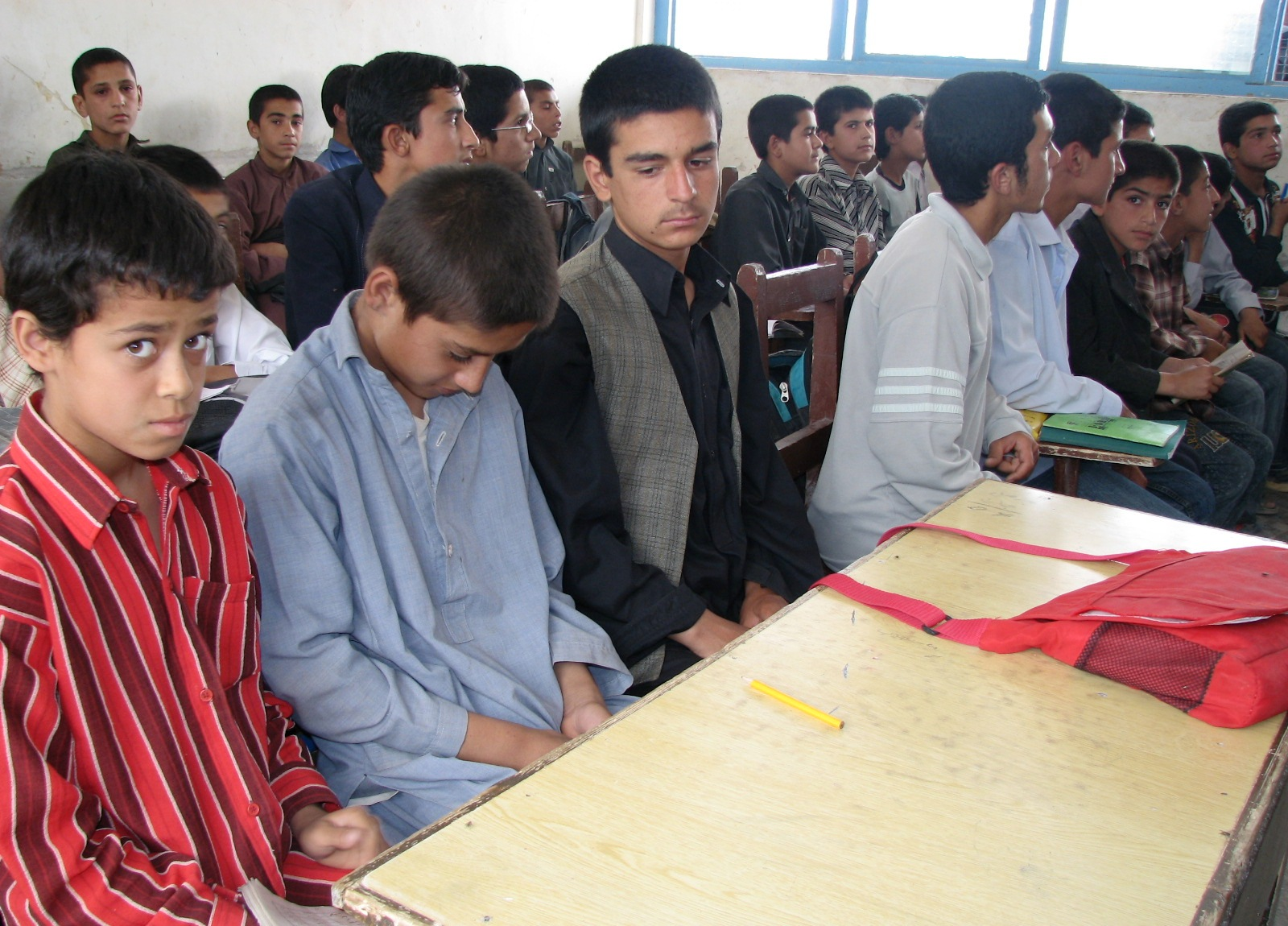 Students in a class in Helmand Province in September 2009