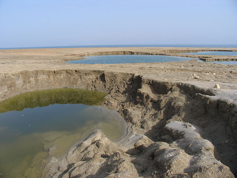 There are an increasing number of sink holes in the southern shores of the Dead Sea as a result of shrinking water levels