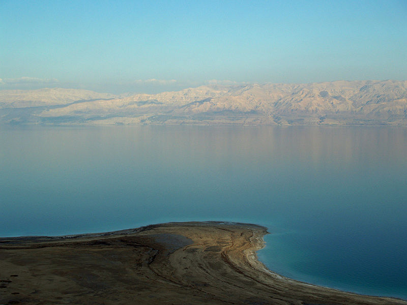 The Dead Sea is 67km long and 18km wide at its widest point. At about 400 metres below sea level, it is considered the lowest point on earth