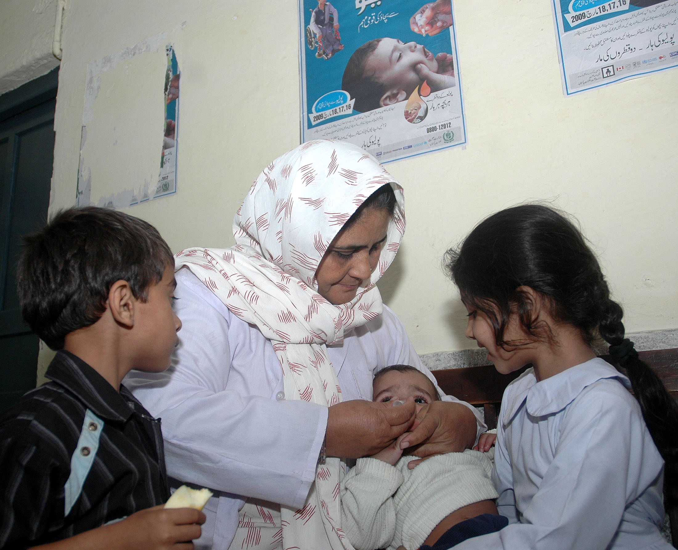 Polio has re-surfaced in districts hit by militancy