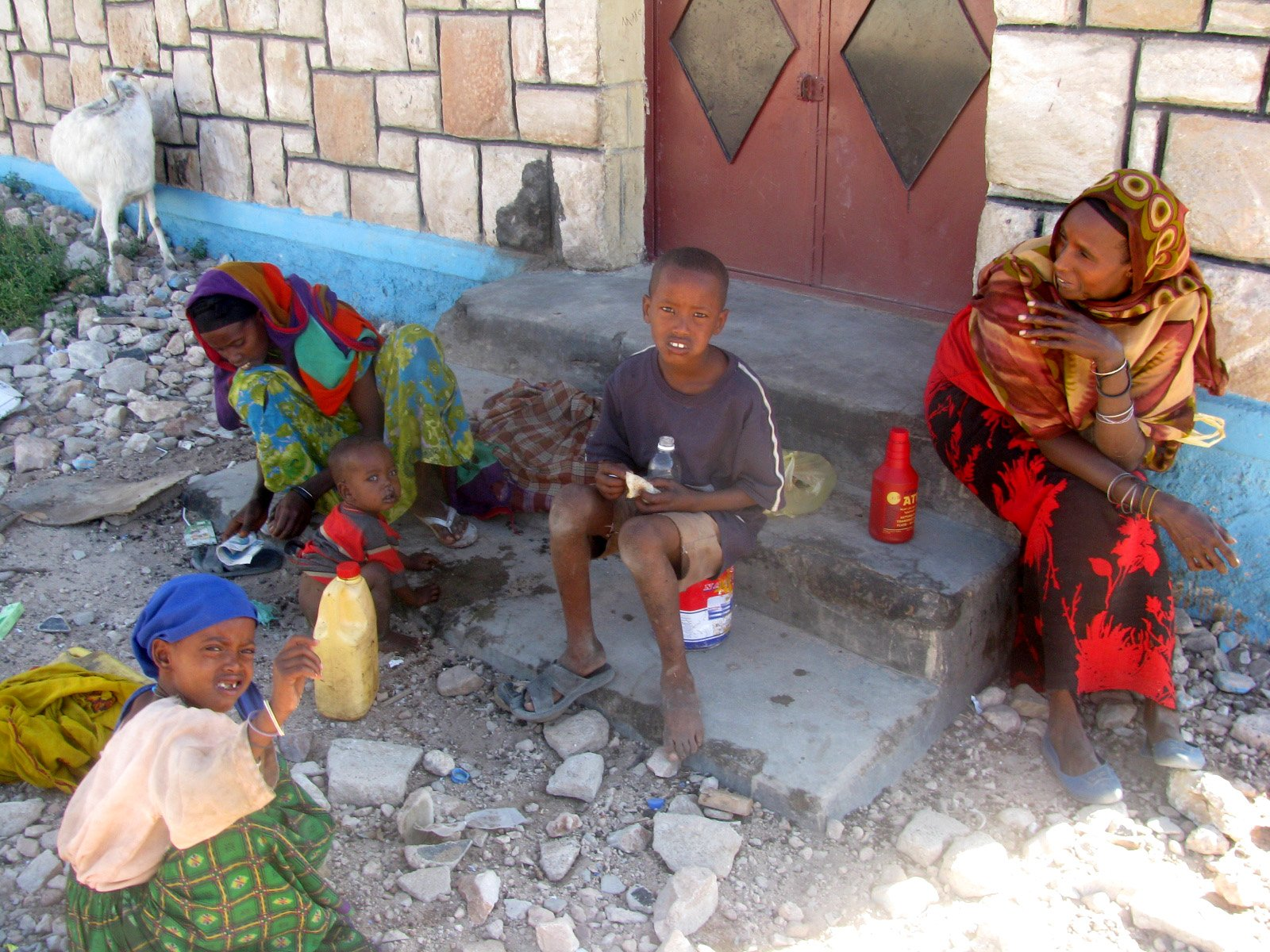 Asha Abdi, some of her children and other immigrant Ethiopian women on a street in Hargeisa. Somaliland immigration officials have expressed concern over the increase in the number of illegal Ethiopian, with claims that up to 90 people are arriving daily,