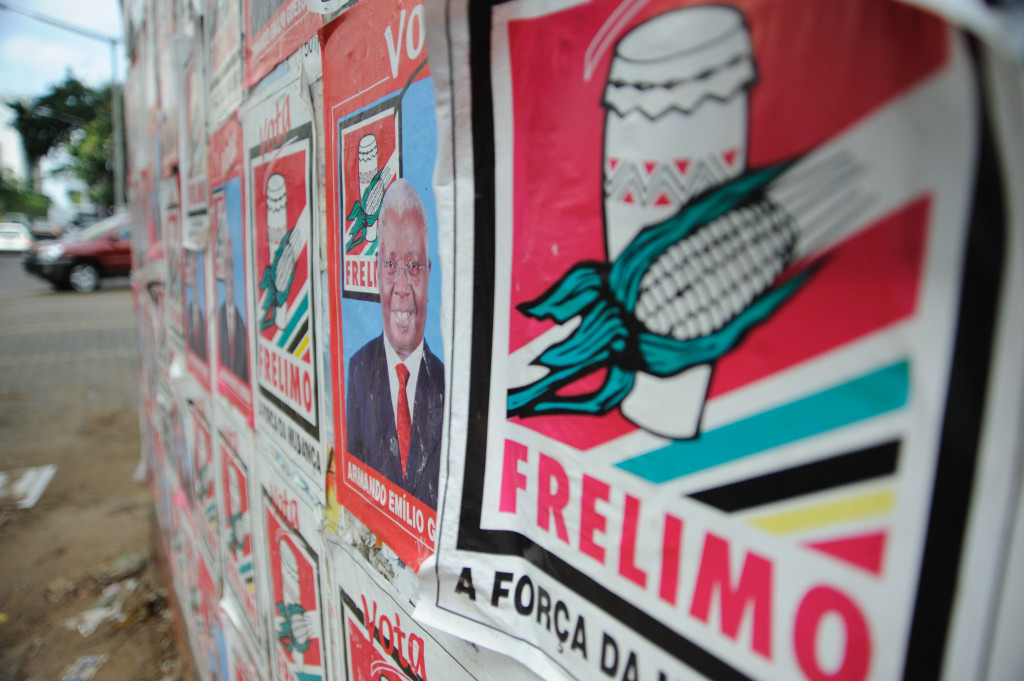 Posters of the ruling Frelimo party ahaeda of the 2009 general elections in the capital Maputo